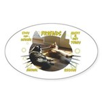 """Friends"" Oval Sticker (10 pk)"