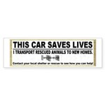 """This Car Saves Lives"" Sticker (Bumper 5"