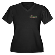iRun, surge Women's Plus Size V-Neck Dark T-Shirt