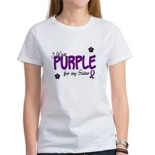 I Wear Purple For My Sister 14 Tee