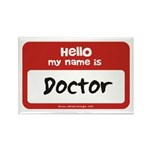 Doctor Name Tag Rectangle Magnet (100 pack)