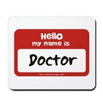 Doctor Name Tag Mousepad