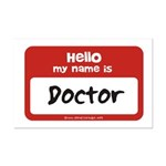 Doctor Name Tag Mini Poster Print