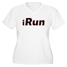 iRun, red trim T-Shirt