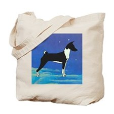 Night Sky Basenji Tote Bag