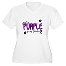 I Wear Purple For My Grandpa 14 T-Shirt