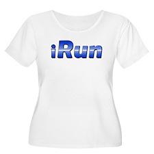 iRun, racing stripe T-Shirt