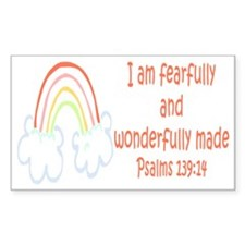 Psalms 139:14 Rectangle Decal
