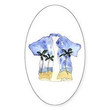 Hawaiian Shirt Oval Decal