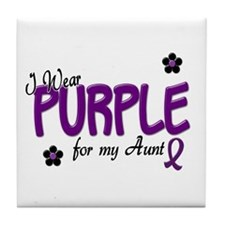 I Wear Purple For My Aunt 14 Tile Coaster