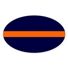 Auburn Thin Orange Line Oval Decal