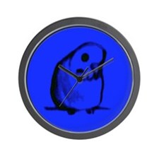 Blue Parakeet Wall Clock