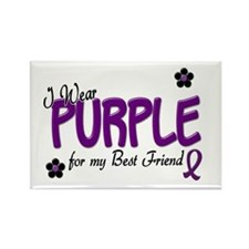 I Wear Purple For My Best Friend 14 Rectangle Magn