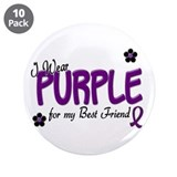 "I Wear Purple For My Best Friend 14 3.5"" Button (1"
