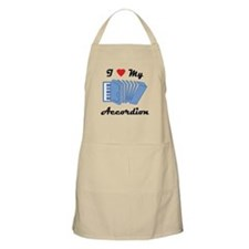 I Love My Accordion BBQ Apron