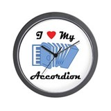 I Love My Accordion Wall Clock