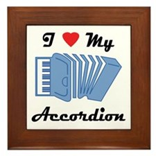 I Love My Accordion Framed Tile