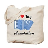 I Love My Accordion Tote Bag