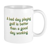 Bad Day Golf Small Mug