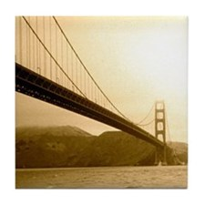 Golden Gate Bridge Tile Coaster