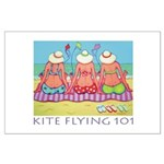 Kite Flying 101 Beach Large Poster