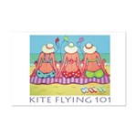 Kite Flying 101 Beach Mini Poster Print