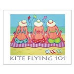Kite Flying 101 Beach Small Poster