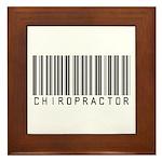 Chiropractor Barcode Framed Tile