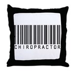 Chiropractor Barcode Throw Pillow