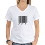 Chemist Barcode Women's V-Neck T-Shirt