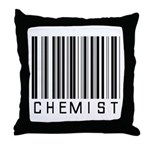 Chemist Barcode Throw Pillow