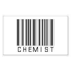 Chemist Barcode Rectangle Sticker