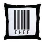 Chef Barcode Throw Pillow