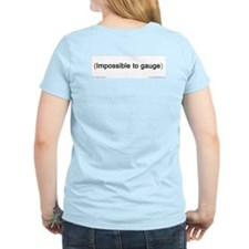 """Impossible"" (back) Women's Pink T-Shirt"