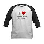 I Love TIBET Kids Baseball Jersey