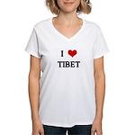 I Love TIBET Women's V-Neck T-Shirt