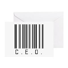 C.E.O. Barcode Greeting Card