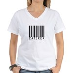 Caterer Barcode Women's V-Neck T-Shirt