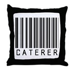 Caterer Barcode Throw Pillow
