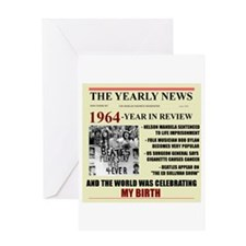 born in 1964 birthday gift Greeting Card