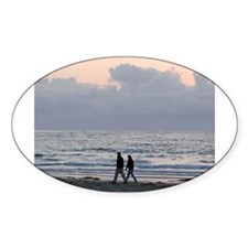Life's A Beach Oval Decal