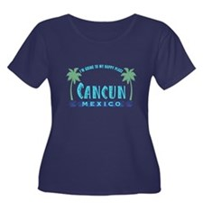 Cancun Happy Place - Women's Plus Size Scoop Neck
