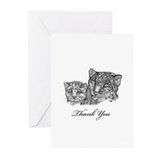 thank you snow leopards Greeting Cards (Pk of 20)