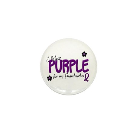 I Wear Purple For My Grandmother 14 Mini Button (1