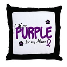I Wear Purple For My Nana 14 Throw Pillow