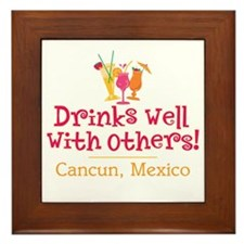 Drinks Well_Cancun - Framed Tile