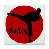 Braydon Martial Arts Tile Coaster