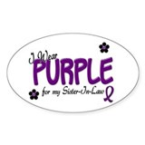I Wear Purple For My Sister-In-Law 14 Decal