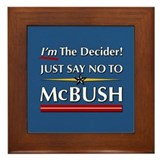 Decider McBush Framed Tile