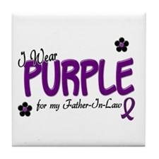 I Wear Purple For My Father-In-Law 14 Tile Coaster